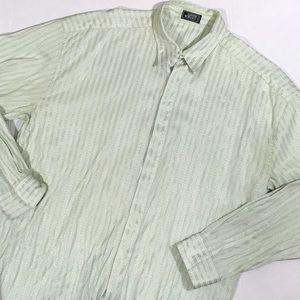Vtg 80s Gianni Versace striped shirt